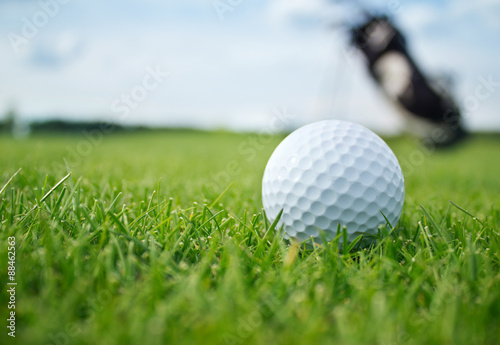 Deurstickers Bol Golf ball on tee