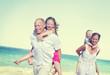 Family Beach Enjoyment Holiday Summer Concept