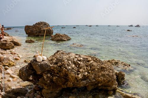 Fotografie, Obraz  Spiaggia di San Michele, Sirolo, Ancona, Marche, Italia