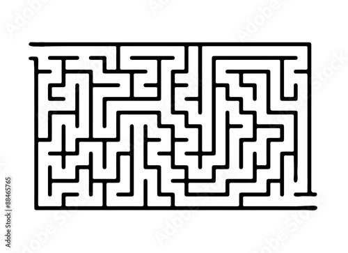 Black vector maze Canvas Print