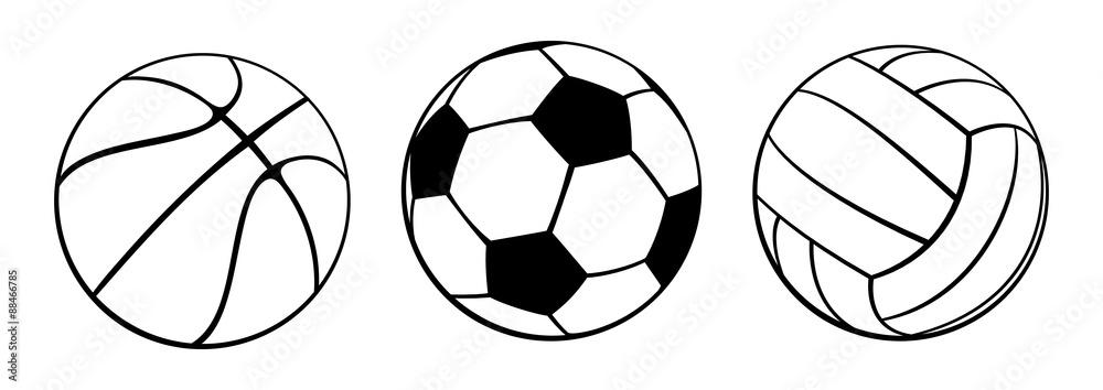 Fototapety, obrazy: Sport Balls