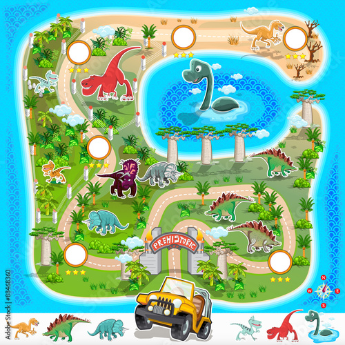 prehistoric-zoo-map-collection-01