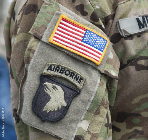 Velcro Patch - 101st Airborne Division Screaming Eagles Wallpaper Mural