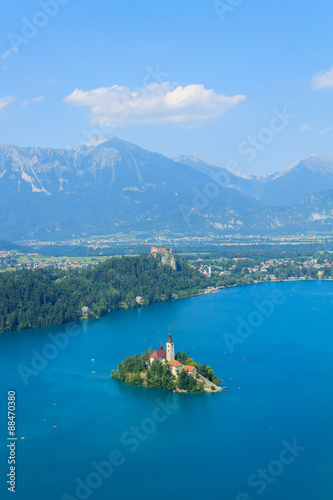 Fototapety, obrazy: Lake Bled and the island with the church summer