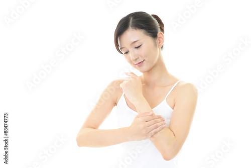 Fototapeta スキンケアをする女性 obraz na płótnie