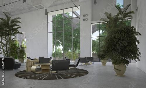 Photo Large spacious waiting room or atrium