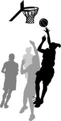 FototapetaWomen's Basketball Layup