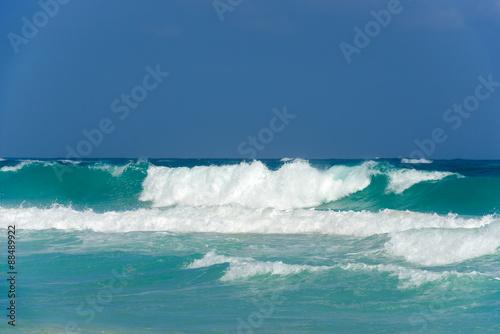 Foto auf Gartenposter Wasser tropical landscape with a beach in a sunny day