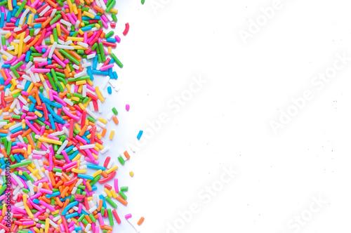 Valokuvatapetti Sugar sprinkle dots, decoration for cake and bekery
