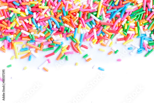 Sugar sprinkle dots, decoration for cake and bekery Wallpaper Mural