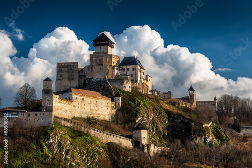 Photo Stands Castle Castle Trencin in Slovakia