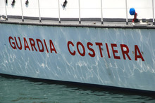 Guardia Costiera Italia Lampedusa EU Europa Küstenwache Schiff Boot Illegale Einwanderung Flüchtlinge Flucht Rettung Italien