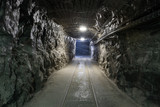 Fototapeta Rocks - Underground mine tunnel