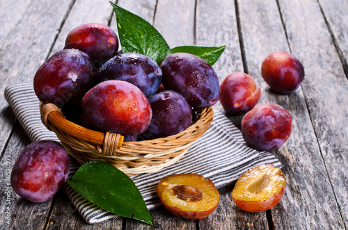 Fresh plum Wallpaper Mural