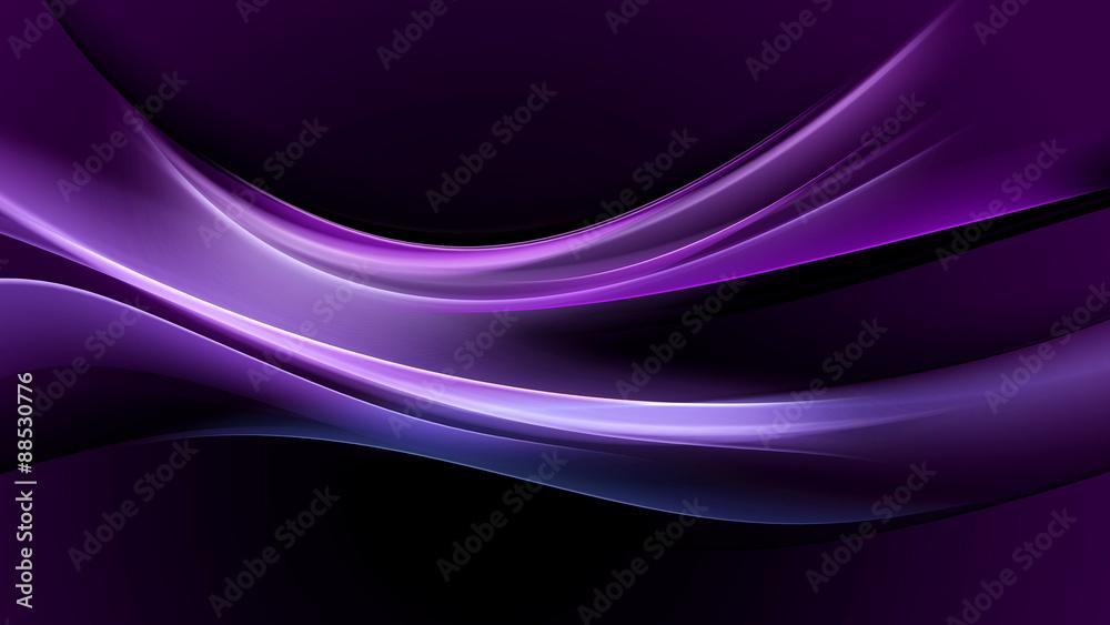 Fototapety, obrazy: abstraction purple light wave background