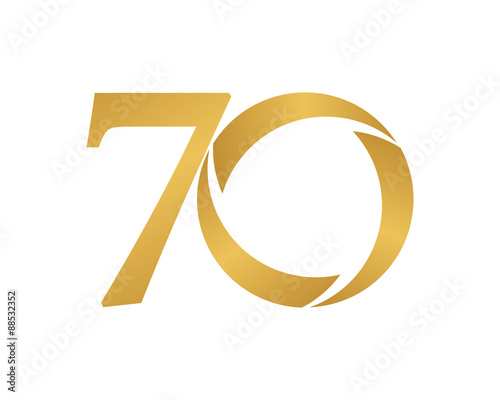 Fototapeta golden ring logo number 70