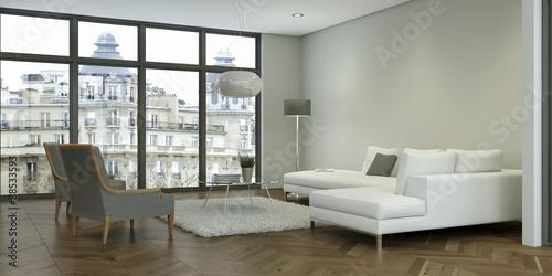 modernes wohnzimmer, modernes wohnzimmer im loft - buy this stock illustration and, Design ideen