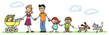 Familie Mit Kindern Und Baby I...