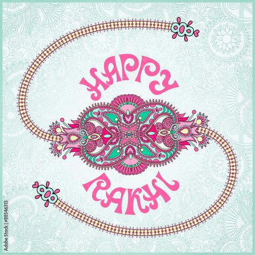 Foto  Happy Rakhi greeting card for indian holiday Raksha Bandhan