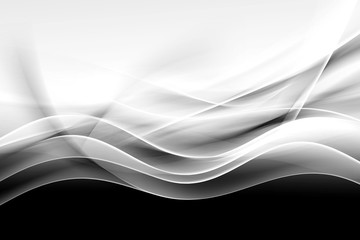 Obraz na Plexicreative abstraction black and white wave background