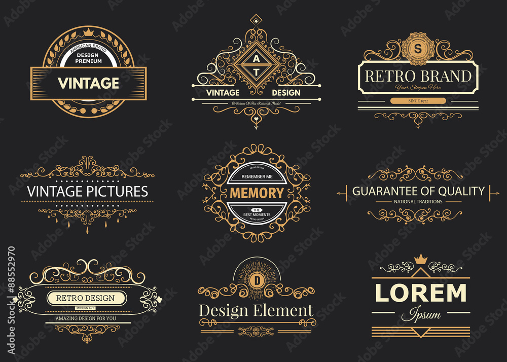 Fototapeta Design logo and monograms