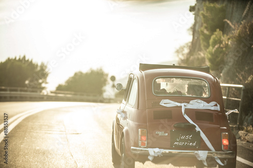 Fotobehang Vintage cars vintage car - wedding