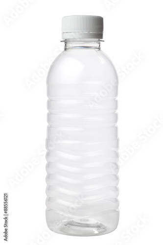Fotografia, Obraz  Empty plastic bottle isolated on white background