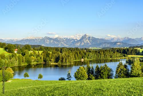 Foto op Plexiglas Panoramafoto s Panorama nahe Seeg im Allgäu
