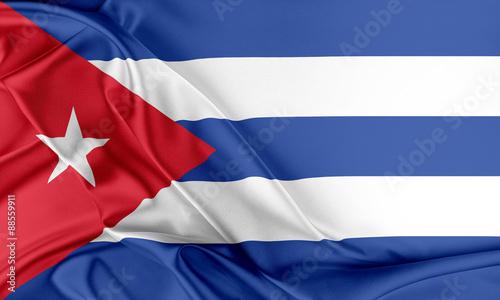 Poster Texas Cuba Flag.
