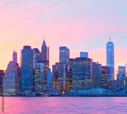 New York CIty, Manhattan at sunset