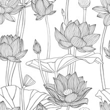 Linear Seamless Pattern - Lotu...