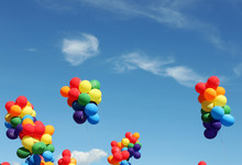 Balloons With Rainbow Color