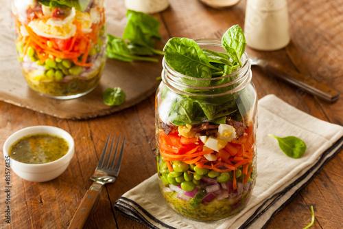 Fotografia, Obraz  Healthy Homemade Mason Jar Salad