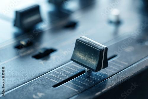 Slika na platnu Crossfader on dj mixer in club