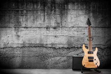 Fototapeta na wymiar Modern electric guitar