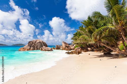 Fotografie, Obraz  Anse Patates Strand, La Digue - Seychellen