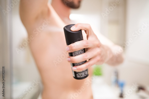 Using antiperspirant is a basis of hygiene Canvas Print