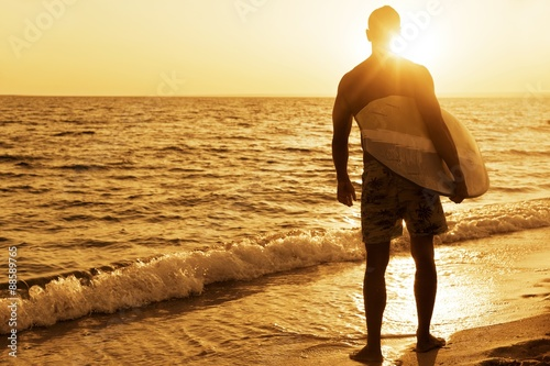 Plakat Surfing, Australia, deska surfingowa.