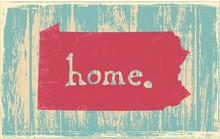 Pennsylvania Nostalgic Rustic Vintage State Vector Sign