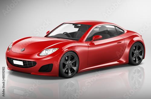 Foto op Canvas Cars Brandless Car Automobile Vehicle Concept