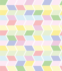 Fototapeta Romantyczny vector seamless geometrical pattern in pastel colors
