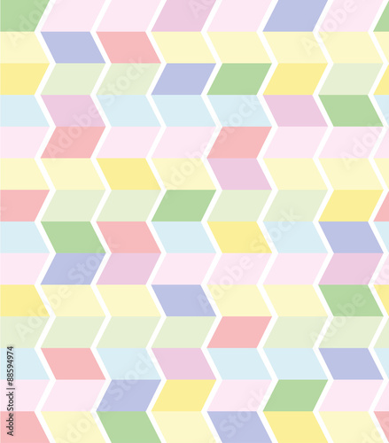 fototapeta na drzwi i meble vector seamless geometrical pattern in pastel colors