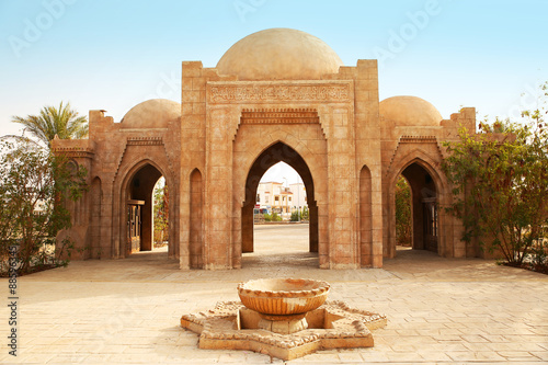 Entrance to the Mosque Al-Mustafa in Sharm-El-Sheikh, Egypt Canvas Print