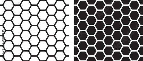 Poster Kunstmatig Seamless texture of honeycomb