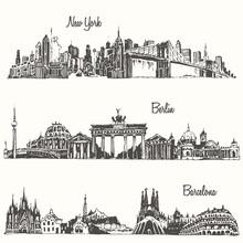 Set Cities New York Berlin Bar...