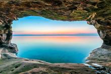 Sea Cave Sundown