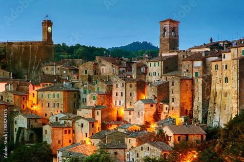 Foto op Plexiglas Toscane Sorano - tuff city in Tuscany. Italy