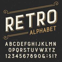 Retro Alphabet Vector Font. Se...