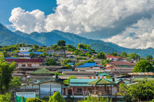 Santi Chon Village On The Hill In Mae Hong Son Province, Northern Thailand