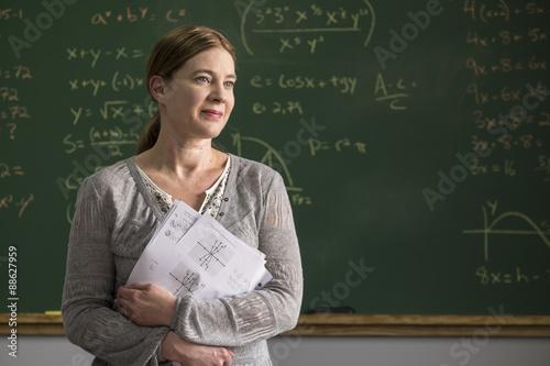 Fotografie, Tablou  Portrait of a proud female teacher